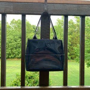Kate Spade Black Leather & Patent Bag Purse